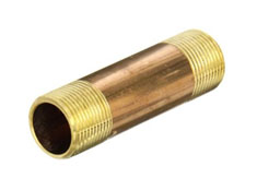 "4"" Threaded NPT Brass Nipples 4"" x 6"""
